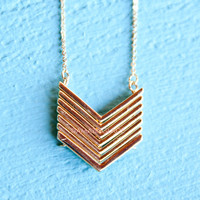 Rocky Path Gold Arrow Necklace