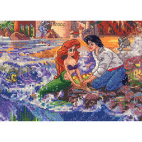 """Disney Dreams Collection By Thomas Kinkade Little Mermaid - 7""""X5"""" 16 Count"""