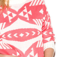 Boxy Geo Pattern Sweater