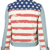 MOTO Flag Denim Jacket - New In This Week - New In - Topshop USA