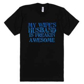 awesome husband-Unisex Black T-Shirt