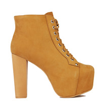 Jeffrey Campbell Lita Platform Bootie in Wheat Nubuck