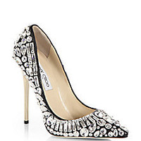 Jimmy Choo - Tia Jeweled Leather Pumps - Saks Fifth Avenue Mobile