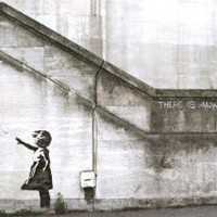 "There Is Always Hope Balloon girl by Banksy Giclee Canvas Art Print #2168 18""x12"""