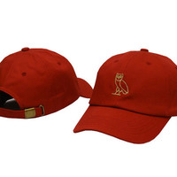 Drake OVO CLASSIC GOLD OWL Red SNAPBACK Caps Casquette OVO CORE COLLECTION HATS STRAPBACK SPORT CAPS Baseball Cap PP