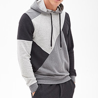 Colorblocked Geo Hoodie Charcoal Heather