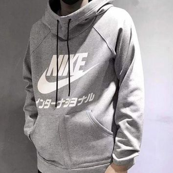 DCCKJH2 Nike Fashion Long Sleeves Hooded Top Pullover Sweatshirt Sweater