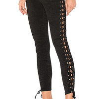 Lovers + Friends Laced and Lovely Legging in Black | REVOLVE