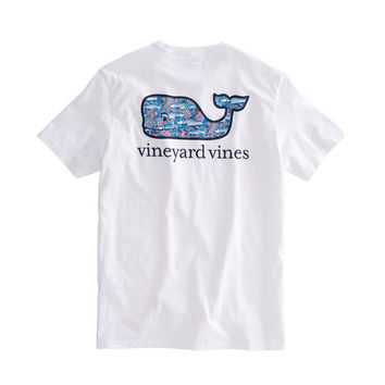 Bonefish In Coral Whale Fill Pocket T-Shirt