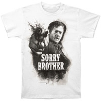 Walking Dead Men's  Sorry Brother T-shirt White Rockabilia