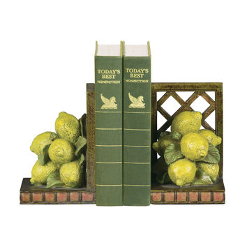 Pair of Lemon Orchard Bookends