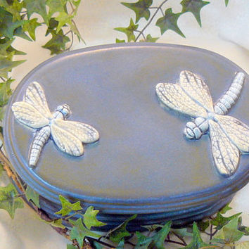 Oval Dragonfly Jewelry Box