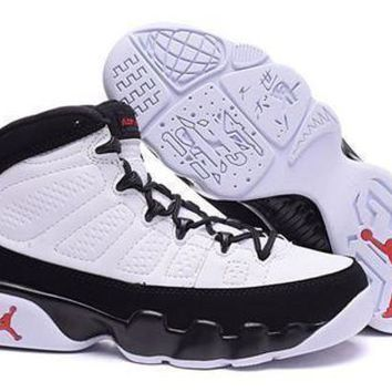 Hot Air Jordan 9 Retro Women Shoes White Black Red