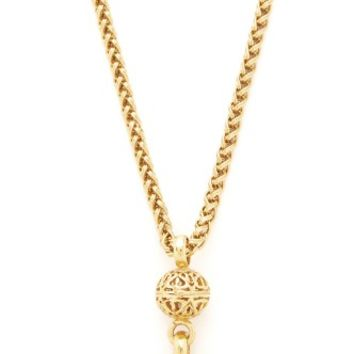 Chanel Fretwork CC Necklace (Previously Owned)