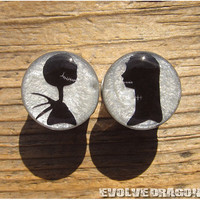Jack and Sally Shape-Shifter Plugs - 00g, 7/16, 1/2, 9/16, 5/8, 3/4, 7/8, 1 Inch - CUSTOMIZABLE