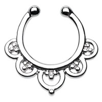 Imperial Filigree Fake Septum Ring