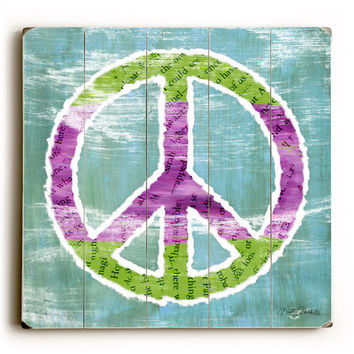 Peace Sign by Artist Misty Diller Wood Sign
