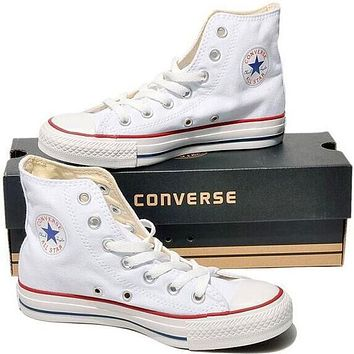 """Converse"" Fashion Casual Running Canvas Flats Sneakers Sport Shoes White G"
