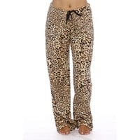 Just Love Women's Plush Pajama Pants - Petite to Plus Size Pajamas (Leopard, Large) - Walmart.com