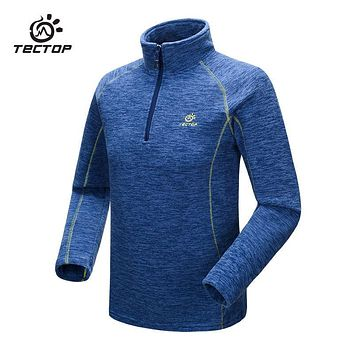 Tectop Men Women Jacket Outdoor Windproof Softshell Warm Camping Winter Jacket Thermal Fleece Pullover Female Sports Softshell
