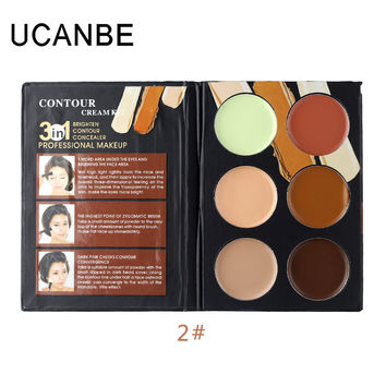 Copy of Ucanbe Cosmetics Cream Contour Highlighting Makeup Kit  Foundation Concealer Palette