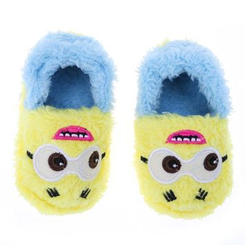 Fashion Autumn Winter Baby Shoes Toddler Coral Shoes For Girls Kids Cute Cartoon Fleec