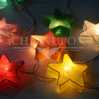 FANCY STAR PAPER LANTERN STRING PARTY,PATIO,FAIRY,DECOR,GIFT,KID BEDROOM LIGHTS