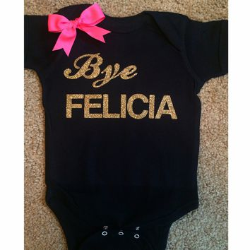 Bye Felicia Onesuit - Mia Grace Designs - Onesuit - Ruffles with Love - Girls Onesuit