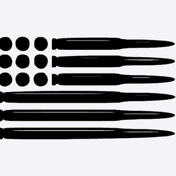 Vehicle Bullet Flag Decal, Fully Personalized Vinyl Decal, You Choose Size