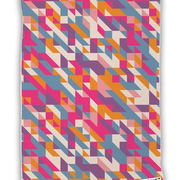 Jagged Edge Mosaic AOP Micro Terry Sport Towel 11 X 18 inches All Over Print