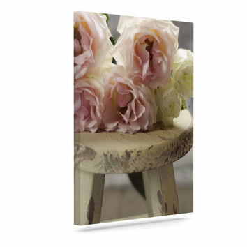 "Cristina Mitchell ""Roses on Stool"" Floral Photography Canvas Art"