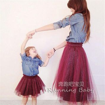 VONEL7C Family Matching Outfits,mother daughter dresses.Family Fitted,baby dress,women dress,Family look,tutu Skirt,family girl clothes
