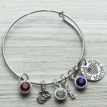 Marine Mom Bangle