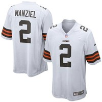 Johnny Manziel Cleveland Browns Nike Game Jersey - White