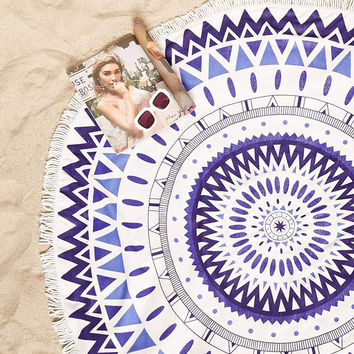 Abstract Tassel Beach Blanket