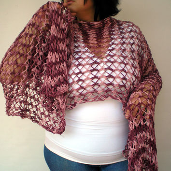 Streep Burgundy  Lace Wrap Hand Knitted Stole Woman Trendy Shoulder Wrap  Cotton Tape Summer Scarf NEW