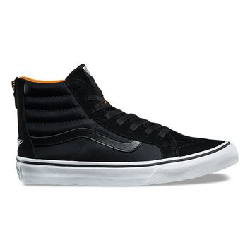 HCXX VANS BOOM BOOM SK8-HI SLIM ZIP - BLACK/TRUE WHITE