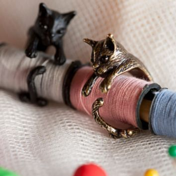 Vintage Style Cat Ring