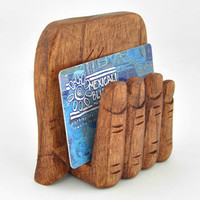 Handy Wooden Holder -- Mexicali Blues