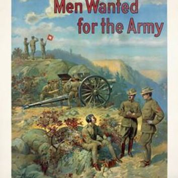 US Recruiting - Men Wanted for the Army by Michael R. Whelan Fine Art Print