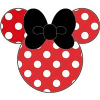 Disney MobiMore Strap Charm Button for iPhone/Smartphone (Minnie Mouse/Red)