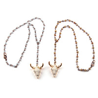 Fashion Bohemian Mini Grey crystal Rosary Chain Cute Horn OX Charm Women Ethnic Choker Simple Lady Necklace -in Choker Necklaces from Jewelry & Accessories on Aliexpress.com | Alibaba Group