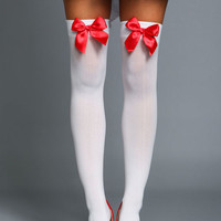 BOW THIGH HIGH HOISERY BY LEG AVENUE