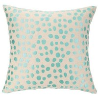 Spotted Beach Turquoise Pillow