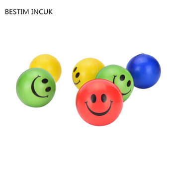 1PCS Funny Smiley Face Anti Stress Reliever Ball For Kids Autism Mood Toys Squeeze Relief For Children Balls Toy