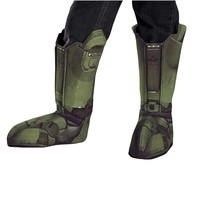 Halo 3 Master Chief Boot Covers Costume - Adult (Grey)