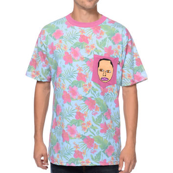 Odd Future Earl Teal Floral Pocket Tee Shirt at Zumiez : PDP