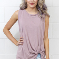 Get Twisted Comfy Tank Basic {Mauve}