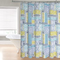 Regal Home Patchwork Fabric Shower Curtain