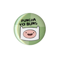 Adventure Time Puncha Yo Buns Pin